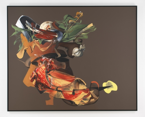 """Portrait of """"Still Life With Beef, Bowl of Ham and Vegetables, and Receptacles"""" (after Melendez)"""