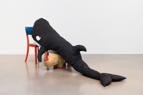 Cosima von Bonin, KILLER WHALE WITH LONG EYELASHES I (RHINO* VERSION)