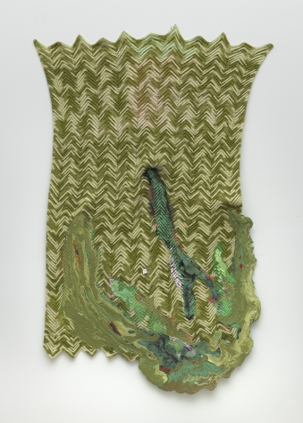 Rodney McMillian, Untitled (green afghan)