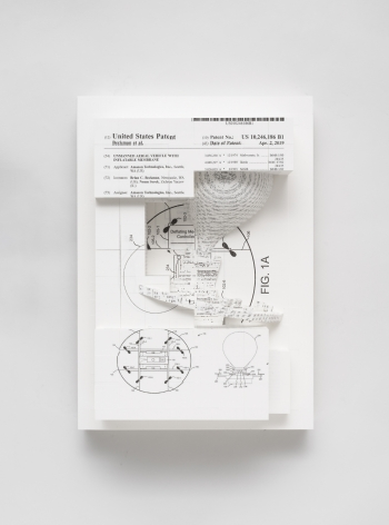 Simon Denny, Document Relief 25 (Amazon Delivery Drone patent)
