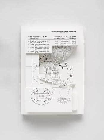 Simon Denny, Document Relief 25(Amazon Delivery Drone patent)
