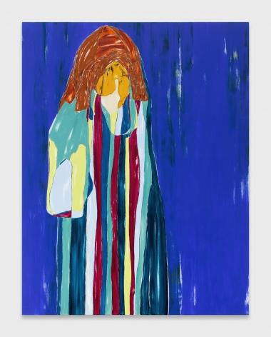 Nicola Tyson, Self-Portrait: Stripes