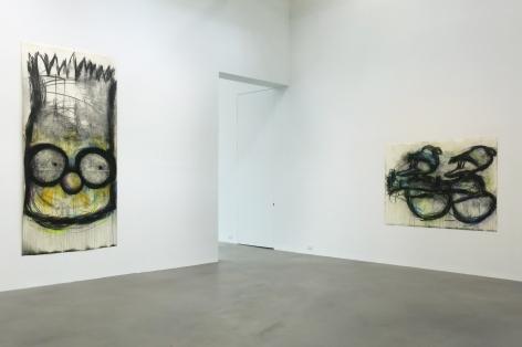 Joyce Pensato: Castaway,Petzel Gallery, 2015, Installation view
