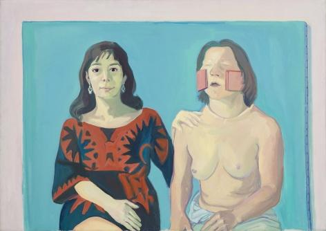 Selbstportraet mit Silvia/Silvia Goldsmith und ich