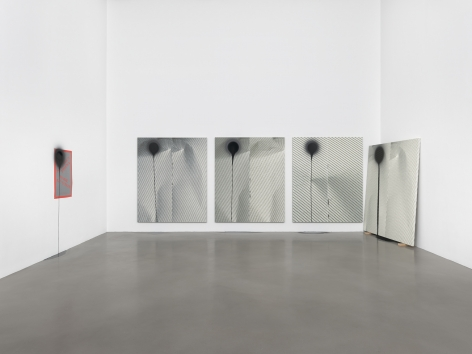 Wade Guyton and Stephen Prina, Petzel Gallery, 2018, Installation view