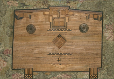 Mobile 1971 Collage, objects inlaid on wood
