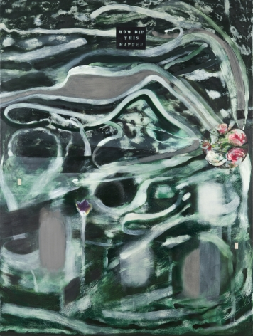 Ross Bleckner, Burn Painting (How Did This Happen)