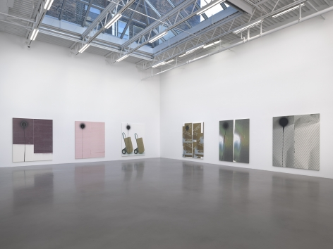 Wade Guyton and Stephen Prina, Installation view