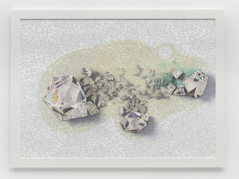 Seth Price, Crystalline Spill Lattice