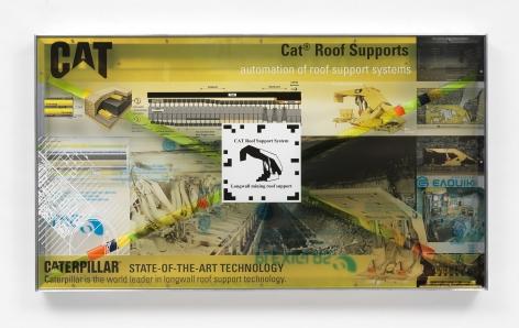 Simon Denny, Caterpillar Inc. semi-autonomous longwall coal mining roof support system promotion screen video token