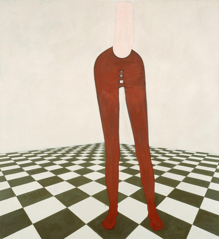 Figure on Tiled Floor