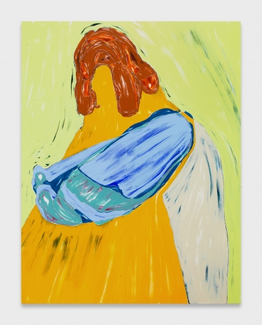 Nicola Tyson, Big Yellow Self-Portrait