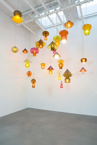 Untitled 2014 Set of Twenty-Five Glass Lamps