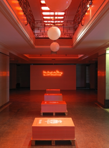 And Europe will be stunned,Artangel, Hornsey Town Hall, 2012, Installation view