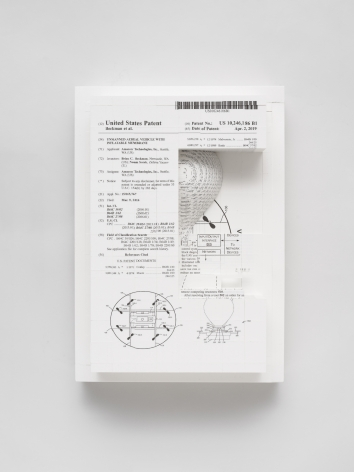 Simon Denny, Document Relief 24 (Amazon Delivery Drone patent)