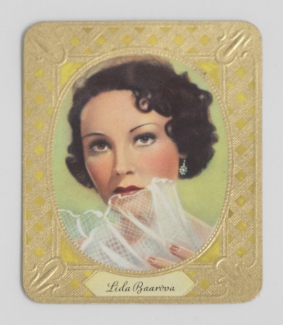 German cigarette card of Lída Baarová, 1936