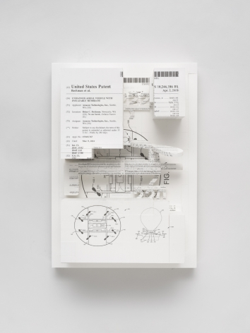 Simon Denny, Document Relief 26 (Amazon Delivery Drone patent)
