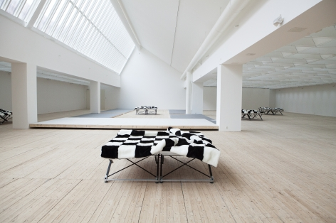 Heimo Zobernig: chess painting, MIT List Visual Arts Center, 2017  Installation view