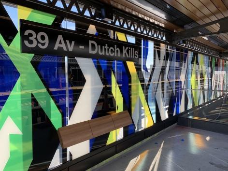 Hellion Equilibrium,39 Av - Dutch Kills station, 2018, Installation view