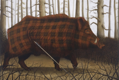 Sean Landers Brueghel and Archer (Boar)