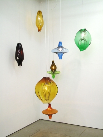 Jorge Pardo Untitled (Set of 7 hanging lamps)