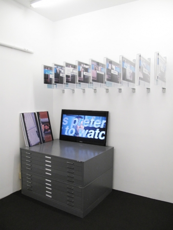 Installation view Corporate Video Decisions