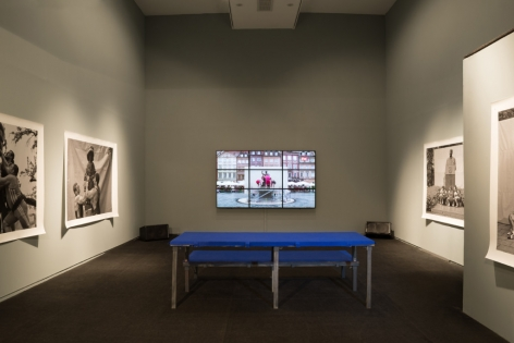 Christian Jankowski: Heavy-weight History,The Center for Contemporary Art, Tel Aviv, 2014, Installation view