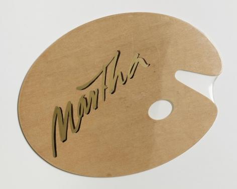 Martha 2003 Enamel paint on shrink-wrapped wooden palette