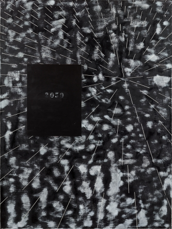 Ross Bleckner, Burn Painting (2050: Not My Future)