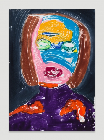 Nicola Tyson, Portrait Head #64