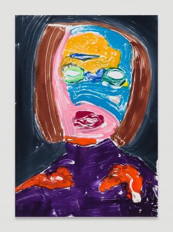 Nicola Tyson, Portrait Head #64