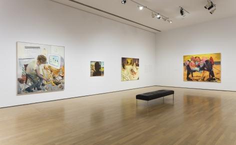 Dana Schutz, Musée d'art contemporain de Montréal, 2015, Installation view