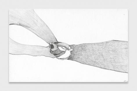 Nicola Tyson, Holding Hands #1