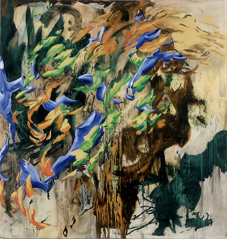 L.K. 2003 Acrylic, oil and charcoal on canvas