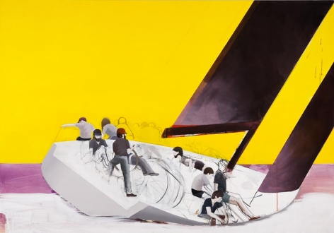 Regatta 2009 Acrylic on canvas