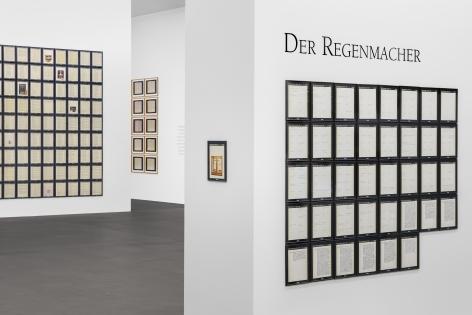Hanne Darboven – Der Regenmacher, Installation view, MKM Museum Küppersmühle für Moderne Kunst, Duisburg, 2020 © 2021 Hanne Darboven