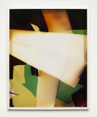Walead Beshty, Three Sided Picture (YBR), January 6, 2007, Santa Clarita, California, Fuji Crystal Archive Type C