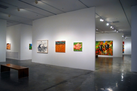 Dana Schutz, If the Face Had Wheels, Perez Art Museum, 2012, Installation view
