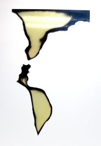 Untitled 2008 2 elements: enamel on dibond