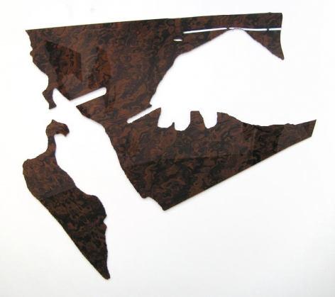 Untitled 2008 2 elements: composite Walnut burl wood and diamond acrylic plastic