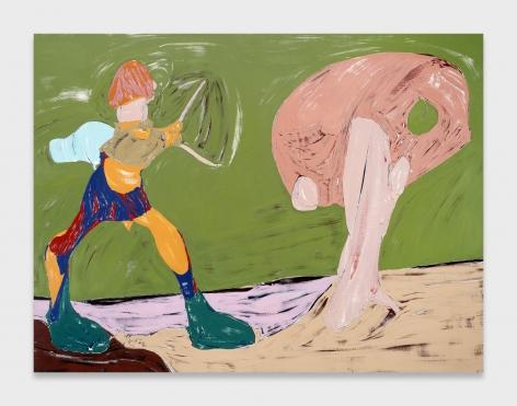 Nicola Tyson, Figure with Tree