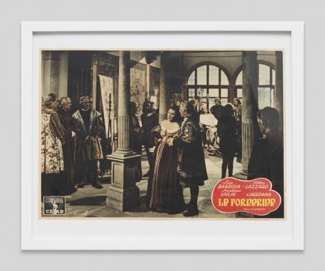 Italian lobby card for the film La Fornarina, 1942