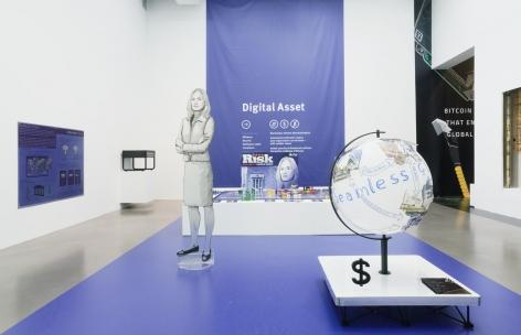 Blockchain Future State Founder Whiteboard Globe Drawing: Blythe Masters Digital Asset