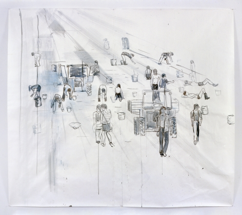 Thomas Eggerer, Drawing for Yellow Harvest #4