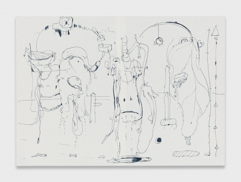 Stefanie Heinze, O.T. (Fluid System, Measured)