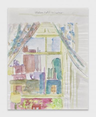 Maria Lassnig, Chelsea Hotel Window