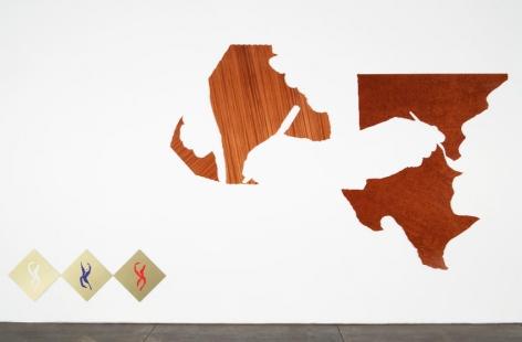 Untitled 2008 7 elements: quartered Honduran Mahogany and composite Sapele