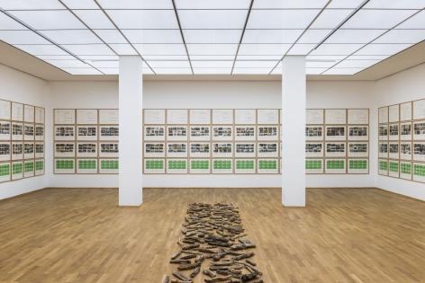 Hanne Darboven. Correspondences, Installation view, Hamburger Bahnhof – Museum für Gegenwart, Berlin, 2017