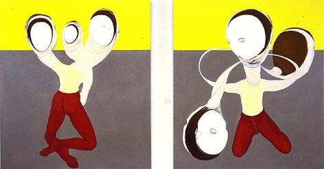 2 Figures, Six Heads
