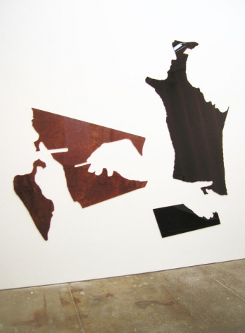 Untitled 2008 4 elements: burled Vavona Redwood and flat-cut African